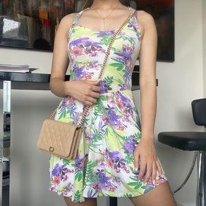 GARAGE Floral RacerBack Cutout Mini Dress